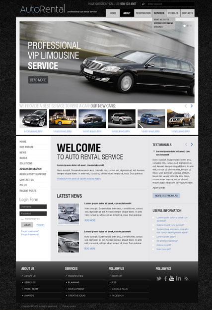 Enterprise Rent A Car Powerpoint Template